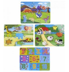 A fun assortment of animal themed wooden puzzle, perfect for keeping your little ones entertained!
