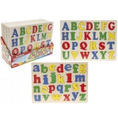 An assortment of 2 Wooden Alphabet Puzzles