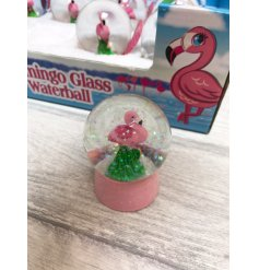 A fun flamingo themed assortment of glittering waterballs