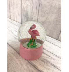 A fun flamingo themed  glittering waterball