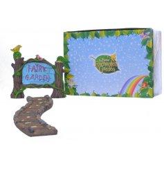 A Fairy Garden Sign & Path