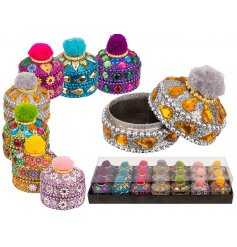 these boho chic inspired trinket pots will be sure to bring a bright sparkling touch to any vanity stand or shelf