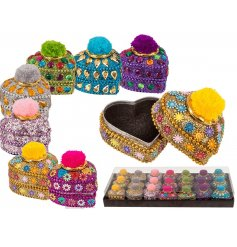 these boho chic inspired trinket pots will be sure to bring a bright sparkling touch to any vanity stand or she