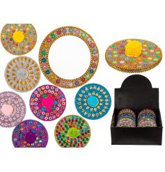 Keep a tabs on your appearance in style with these major sparkling and jewel covered compact mirrors