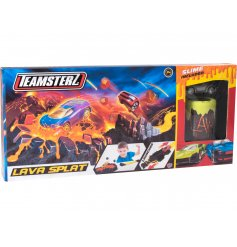 A Teamsterz Lava Spalt Toy including Car, Launcher & Slime