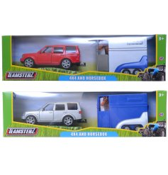 An assortment of 2 Teamsterz 4x4s with Horse Box