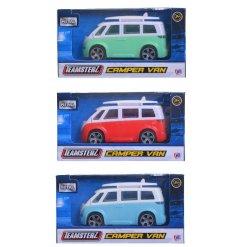 An assortment of 3 Teamsterz Camper Van Toys