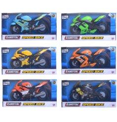 An assortment of 6 Teamsterz Speedbike Toys
