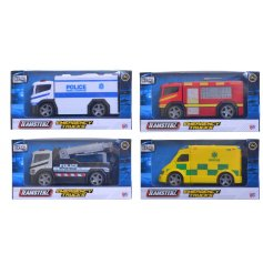 An assortment of 4 Teamsterz Emergency Vehicle Toys