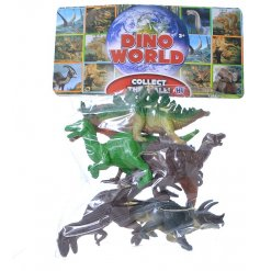 A pack of 6 small Dinosaur Figures