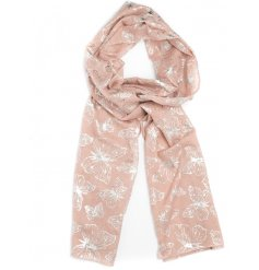 Spruce up your Spring wardrobe with this beautiful assortment of coloured fabric scarves with an added foil butterfly de