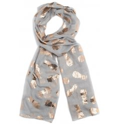 Copper Foil Pineapple Print Scarves in 4 Assorted colours