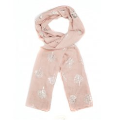 A Silver Foil Tree of Life Print Scarf in 4 assorted colours