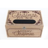 Christmas has come early with this enchanting wooden Christmas Eve box with chalkboard for personalisation.