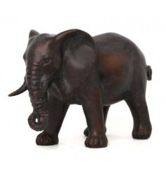 Bronzed Elephant Ornament   Set with its distressed bronzed effect and added detail effects