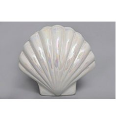 A Pearlised Shell Ceramic Money Box