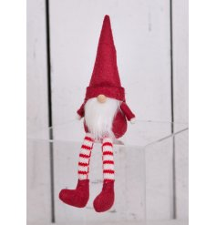 With its festive red and white tones, this little decoration will fit in with any themed decor at Christmas time