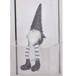 With its neutral grey and white tones, this little decoration will fit in with any themed decor at Christmas time