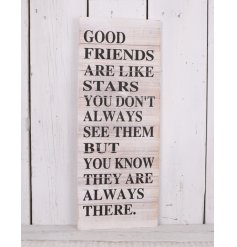 A beautifully rustic inspired wooden plaque, complete with a sentimental printed block quote