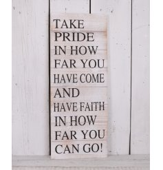 this large wooden plaque will be sure to look perfect in any themed home space