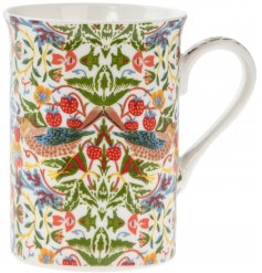 A Strawberry Thief China Mug with William Morris print