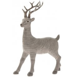 Bring an ambient feel to any home decor this festive season with this beautifully decorated resin reindeer ornament