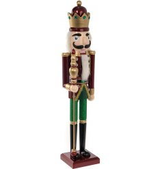 Set up a charming Classical feel in any home interior or display with this magnificent standing wooden Nutcracker
