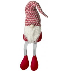 Bring a fun and festive feel to any sideboard or shelf at Christmas time with this sweet little dangly legged Santa Gon