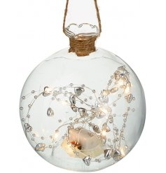 A beautiful festive infused hanging decoration with an added warm glowing effect