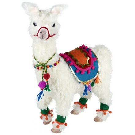 add a quirky edge to any home decor or display this christmas season with this traditionally - Llama Christmas Decoration