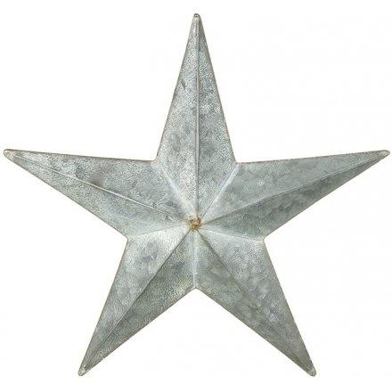 Medium Distressed Hanging Metal Star 52cm