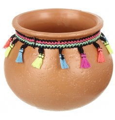 this rounded terracotta pot will be sure to look perfect in any home interior or garden display this summer
