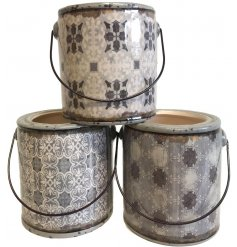Bring a charming green touch to any Rustic Edge living environment with this sleek assortment of Dolomite pots