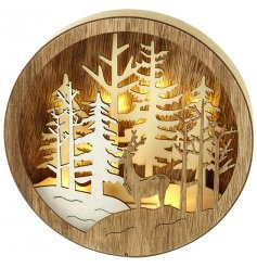 Produce a beautiful warming glow in your home interior this Christmas season with this wonderfully decorated wooden LED