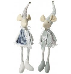 With their Mint Green and Soft Grey tones and added jingling bells, these little fabric mice will compliment any home s