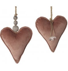 Soft to the touch, these hanging rosy pink heart decorations will be sure to add a Pretty Romantic inspired touch