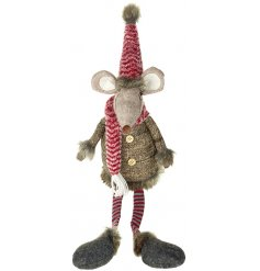 Bring home a cozy and comforting Woodland sense with this sweetly sitting fabric mouse decoration