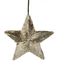 Bring a Rough Luxe edge to any home decor or display this festive season with this chic hanging star decoration