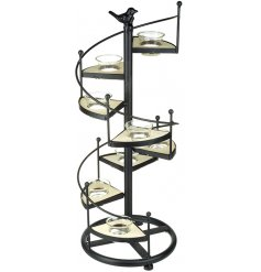 This spiral staircase inspired t-light holder will be sure to produce a comforting, cozy and vintage inspired feel