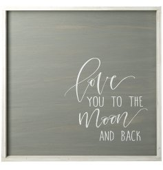 Bring home a beautifully sentimental touch with this rustic wooden wall plaque