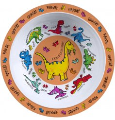 , this Dinosaur covered bowl will be sure to keep your little ones entertained while they eat