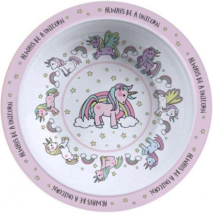 Magical Unicorns Plastic Bowl