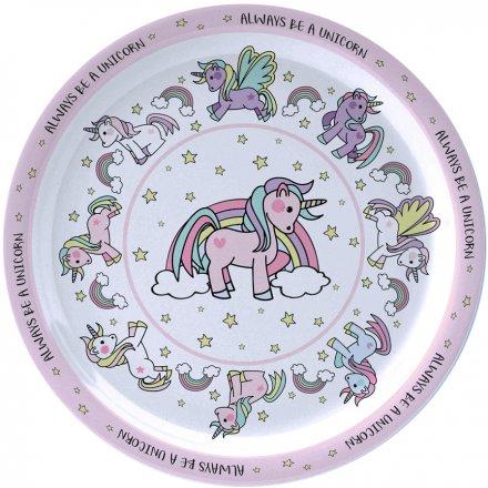 Magical Unicorns Plastic Plate