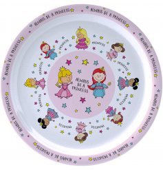 Part of a wide new range of plastic kitchenware for children, this Pretty Princess themed plate is perfect for any chil