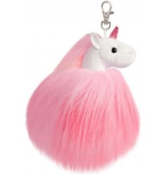 Bring a fabulously fluffy touch to your key set, purse, backpack or handbag with this magical unicorn pompom keyring