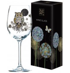 Add a bright and colourful dash to any home or display with this beautifully decorated Wine Glass