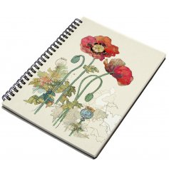 Add a sweet vintage charm to your journal writing and memo taking with this sleek patterned A5 notebook