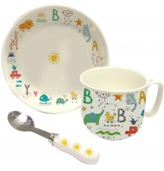 A Turnowsky Baby Print Porcelain Breakfast Set