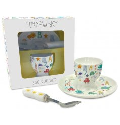 A Turnowsky Baby Porcelain Egg Cup Set