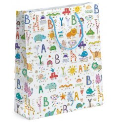 A Turnowsky Baby Print Large Gift Bag